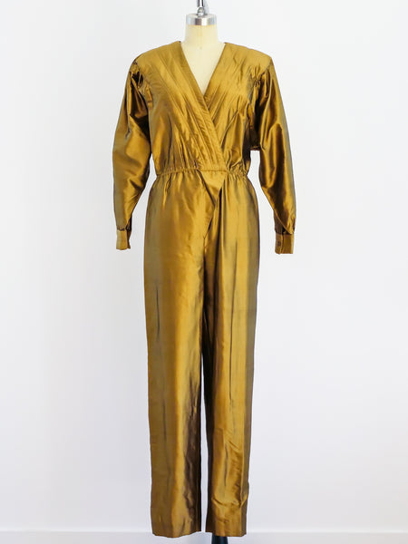 Bronze Thai Silk Jumpsuit