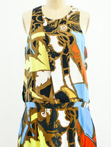 Balenciaga Graffiti Print Tank Dress