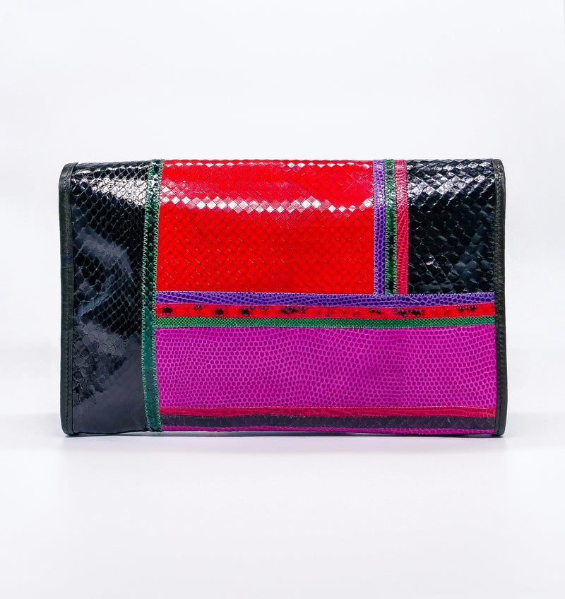 Carlos Falchi Multi Color Convertible Clutch