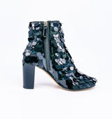 Chanel Paillette Heeled Booties, 38