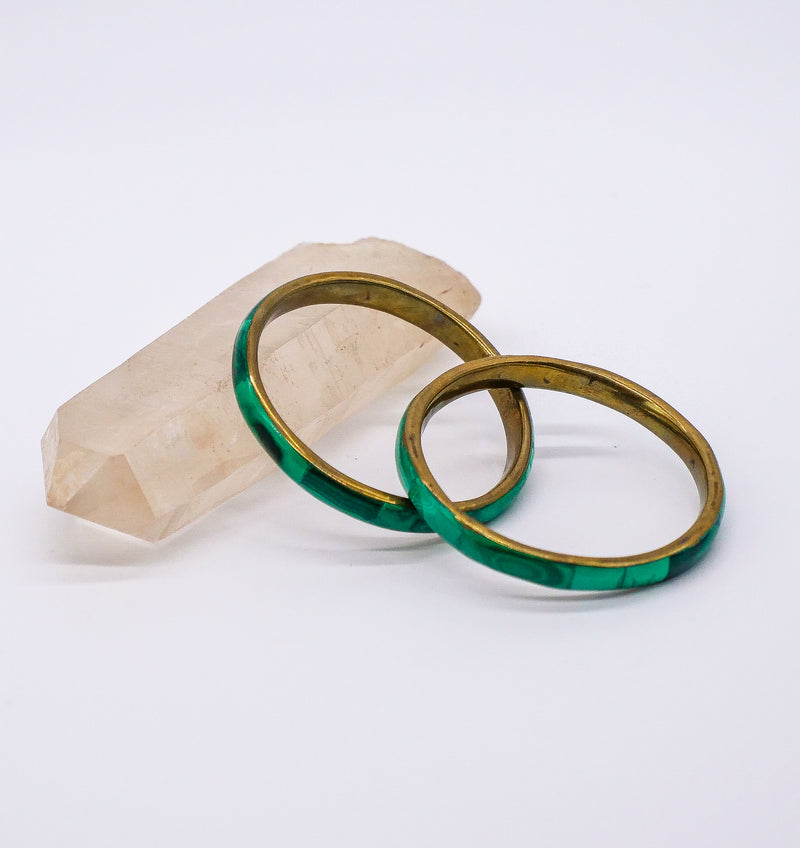 Pair of Malachite Bangles