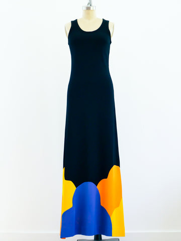 Pieced Jersey Tank Dress