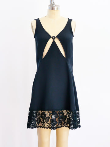 Geoffrey Beene Black Tank Cutout Dress