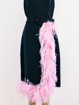Prada Feather Trimmed Dress
