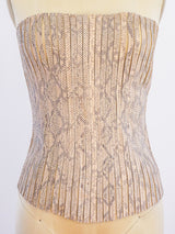 Jitrois Snake Embossed Leather Bustier