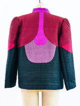 Quilted Silk Jacket