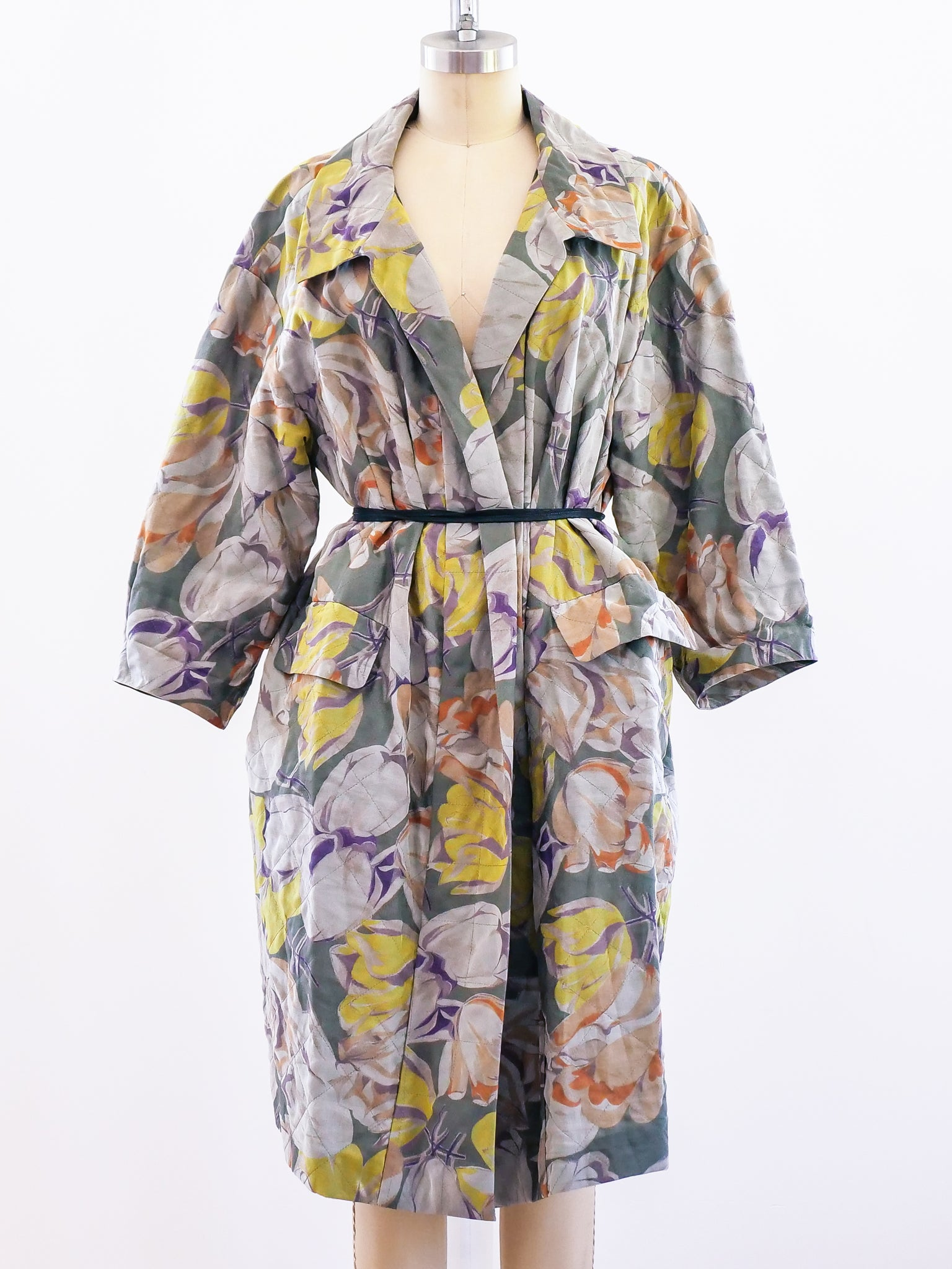 Dries van Noten Watercolor Floral Coat