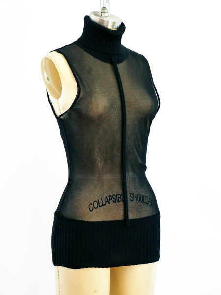 Jean Paul Gaultier Sheer Sleeveless Top