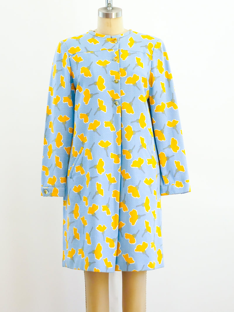 Geoffrey Beene Floral Coat Dress