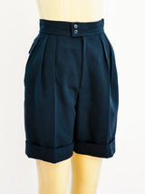 Yves Saint Laurent Pleated Shorts