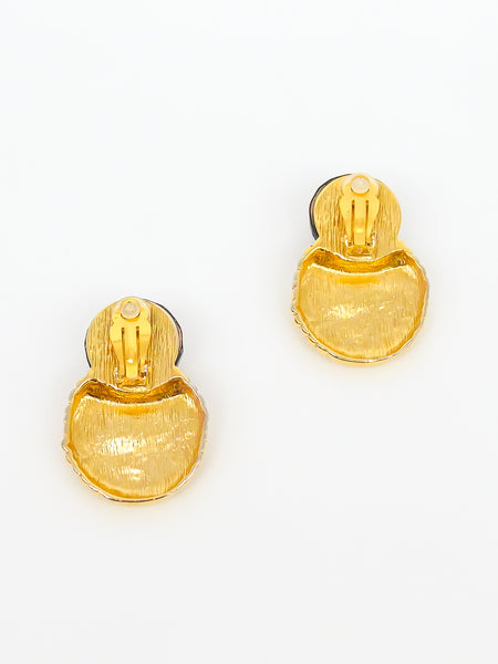 Givenchy Textured Disc Earrings