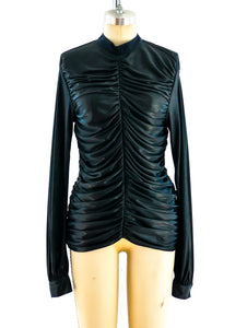 Chanel Parachute Ruched Jersey Top