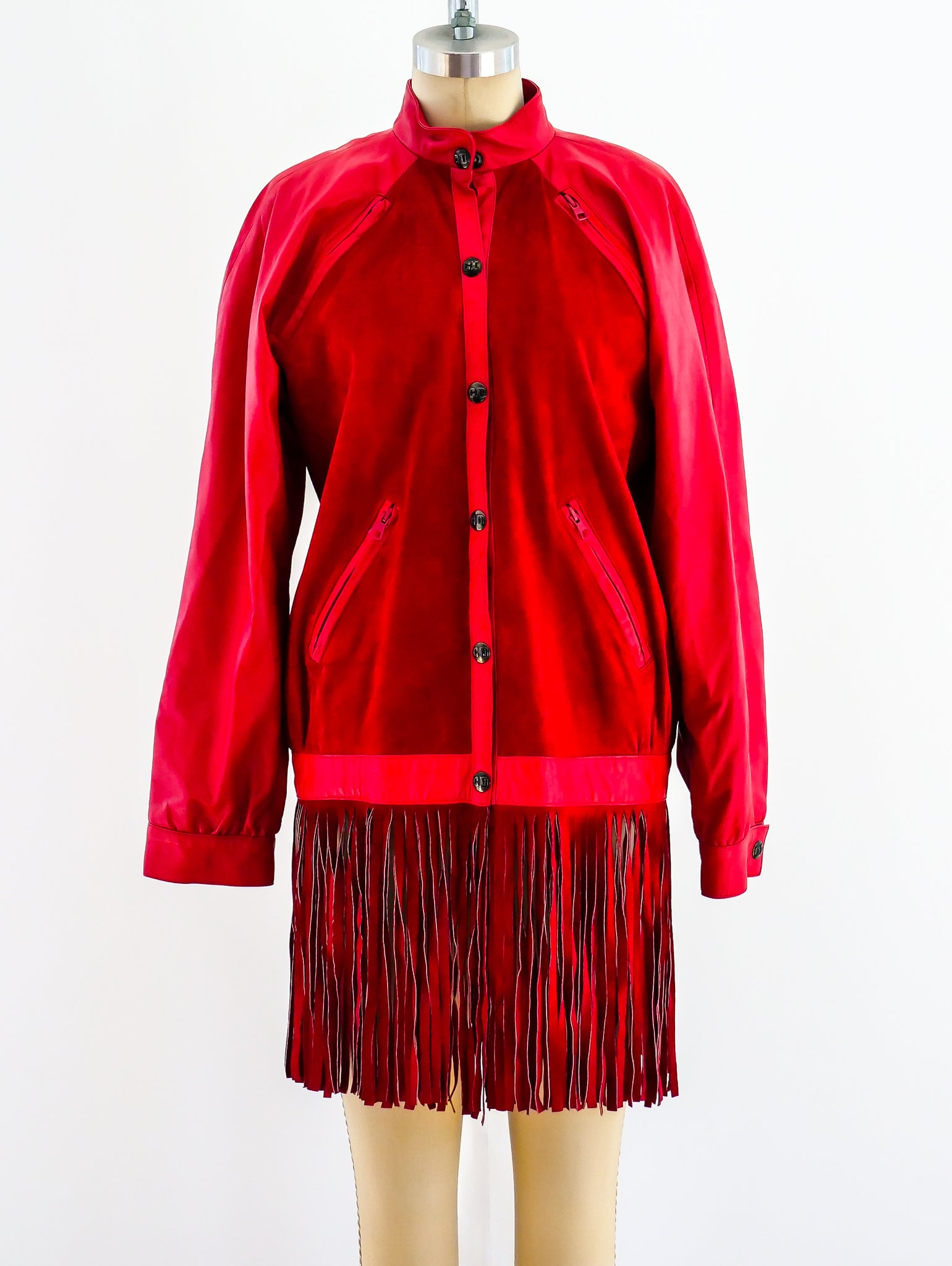 Christian Dior Fringed Leather and Suede Jacket