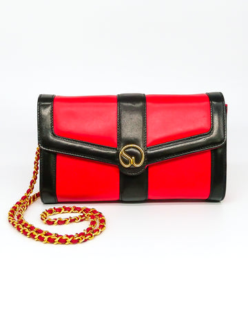 St John Red Leather Shoulder Bag