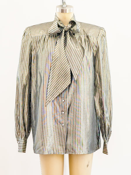 Nina Ricci Lurex Stripe Top