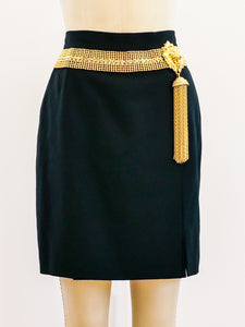 Gianfranco Ferre Gold Tassel Skirt