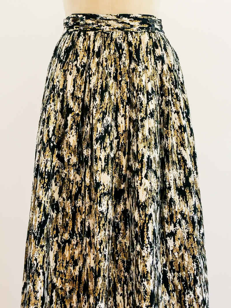 1950's Metallic Felted Skirt