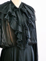 Chanel Pleated Chiffon Gown