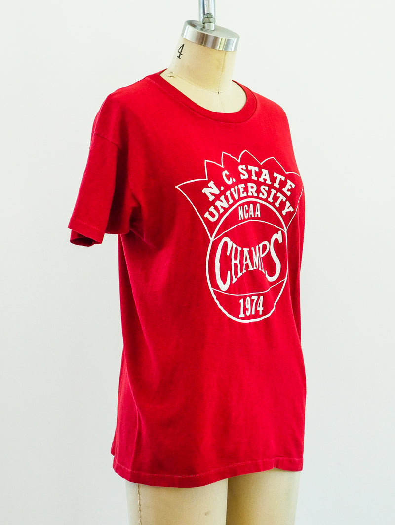 NC State Champs Basketball Tee