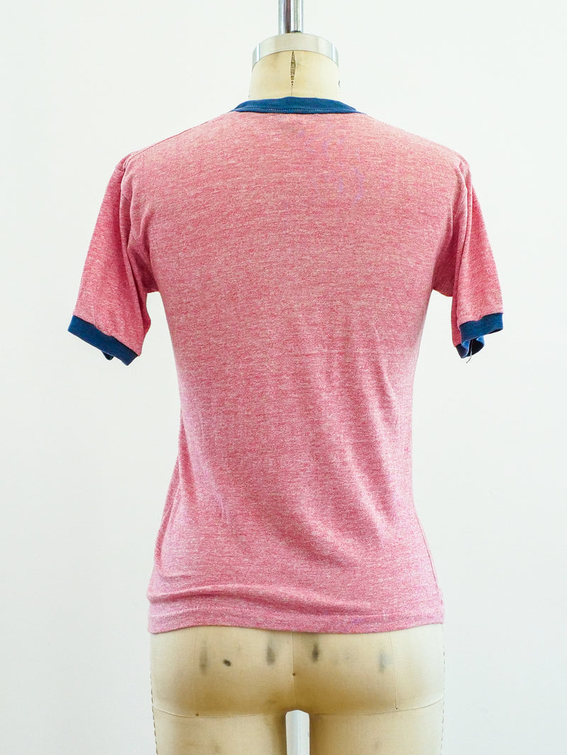 Heather Red Ringer Tee