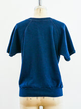Navy Blank Short Sleeve Sweatshirt