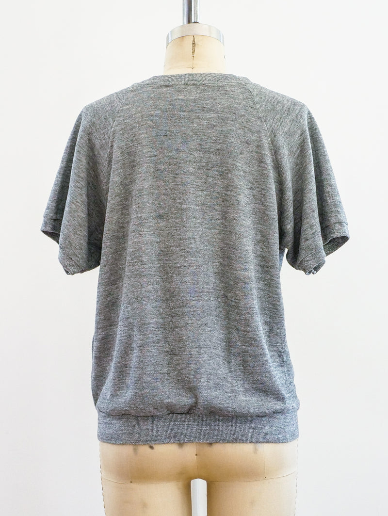 Heather Grey Blank Short Sleeve Sweatshirt