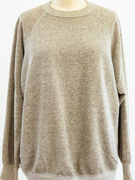 Heather Beige Blank Long Sleeve Sweatshirt
