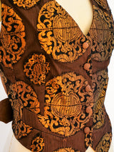 Jean Paul Gaultier Copper Brocade Vest