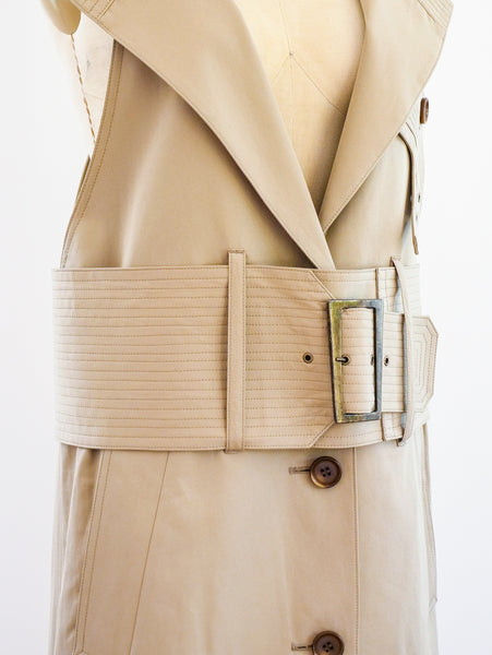 Khaki Trench Sleeveless Jumper