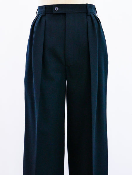 Yves Saint Laurent Sequin Stripe Tuxedo Pants