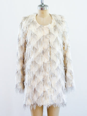 White Shag Jacket