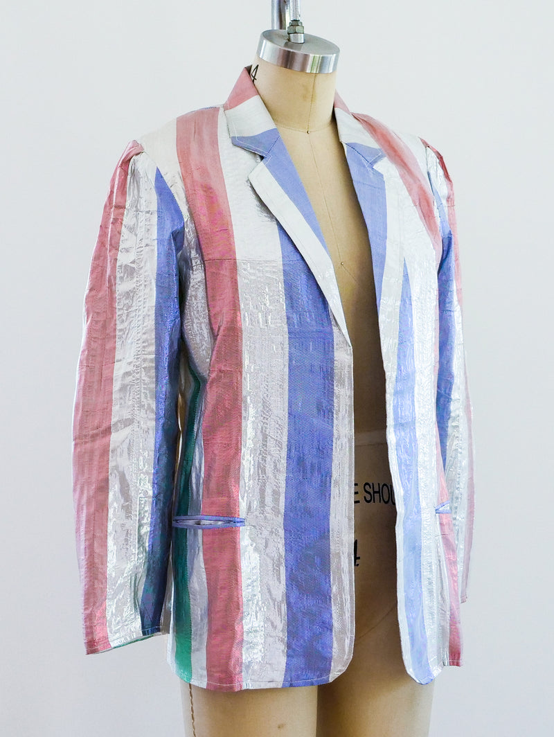 Metallic Striped Lurex Blazer