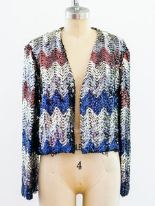 Sequin Chevron Jacket
