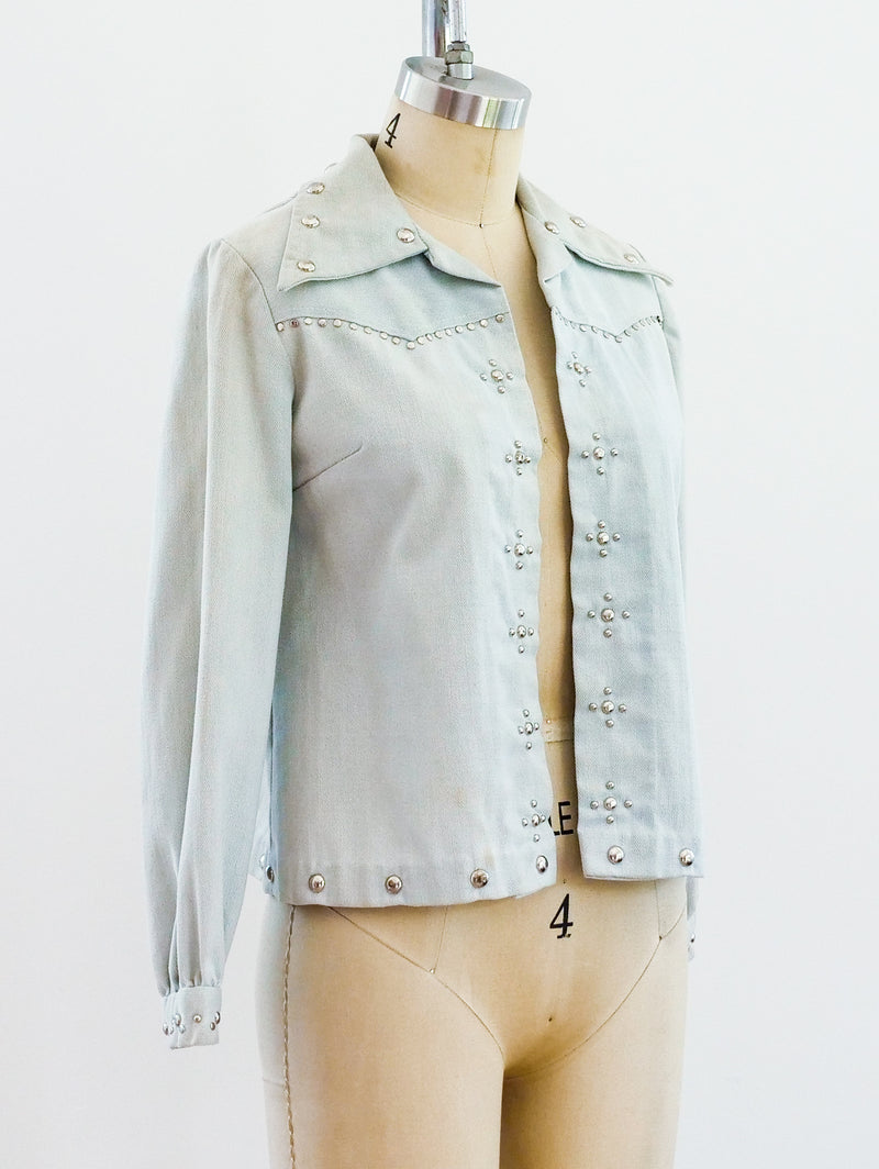 1970's Studded Denim Jacket
