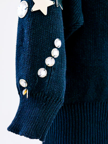 Star embellished sweater