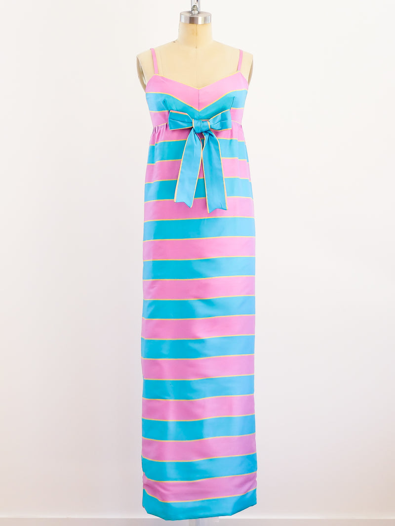 Jean Varon Pink and Blue Striped Dress