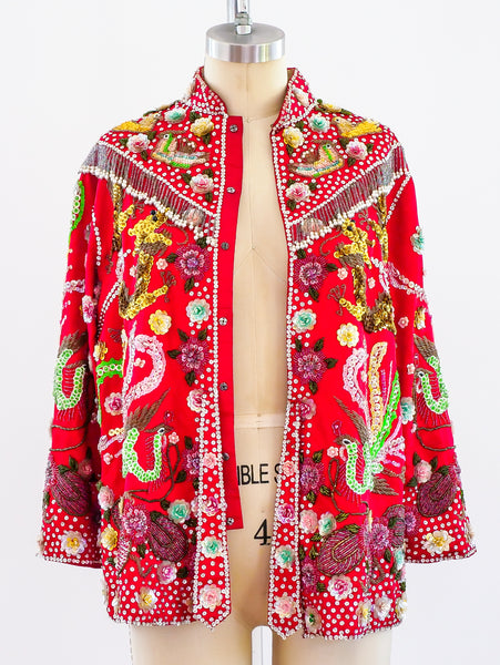 Fully Embellished Chinese Wedding Jacket