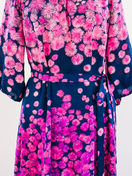 Givenchy Couture Floral Silk Dress