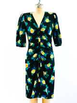 Ungaro Floral Ruched Dress