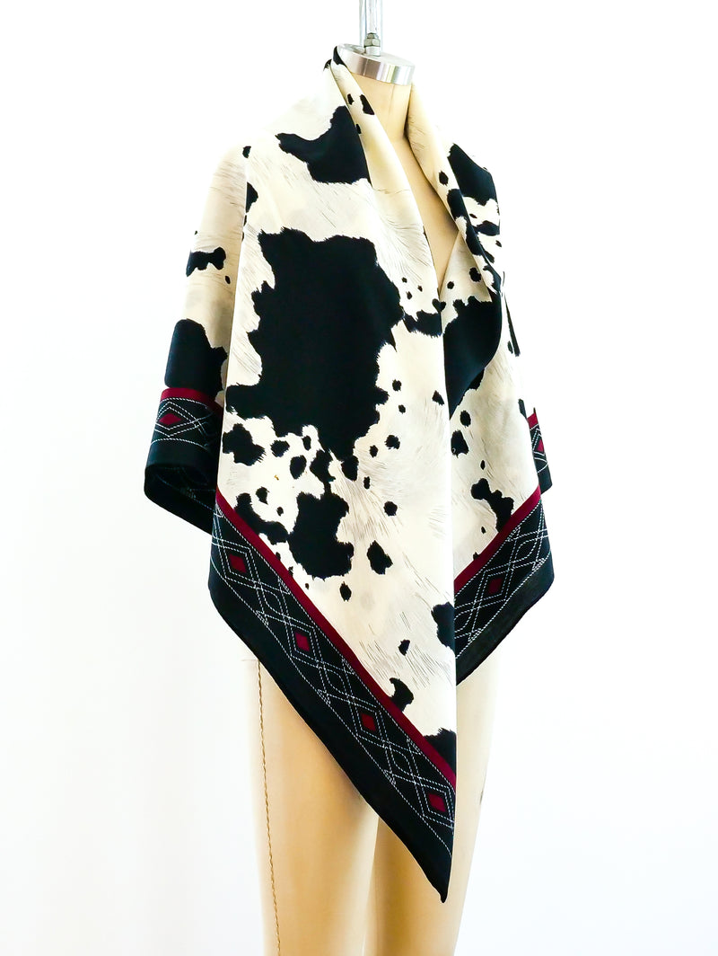 Anne Klein Cow Print Skirt and Shawl