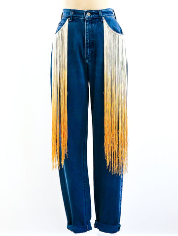 Fringed Lee Jeans