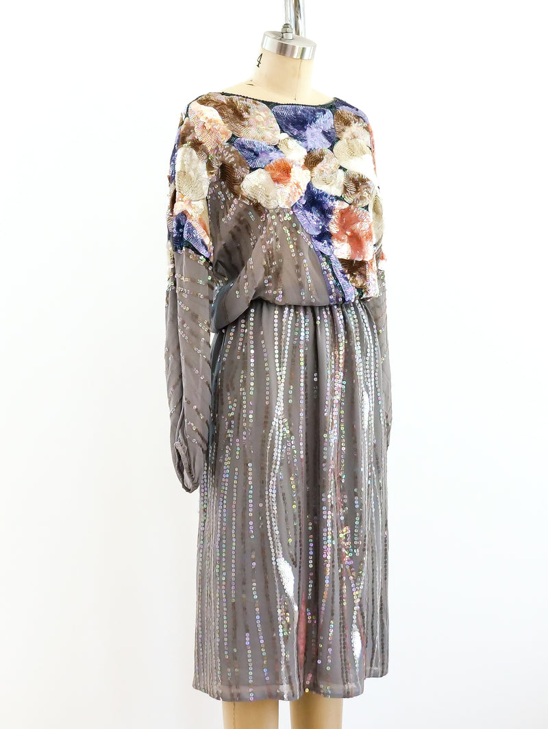 Neil Bieff Sequined Silk Ensemble