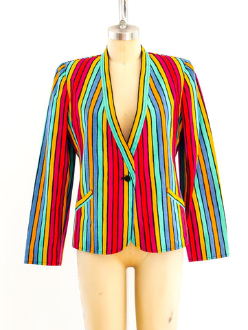 Ungaro Rainbow Striped Jacket
