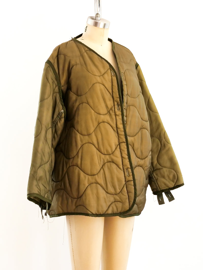 Army Green Military Liner Jacket