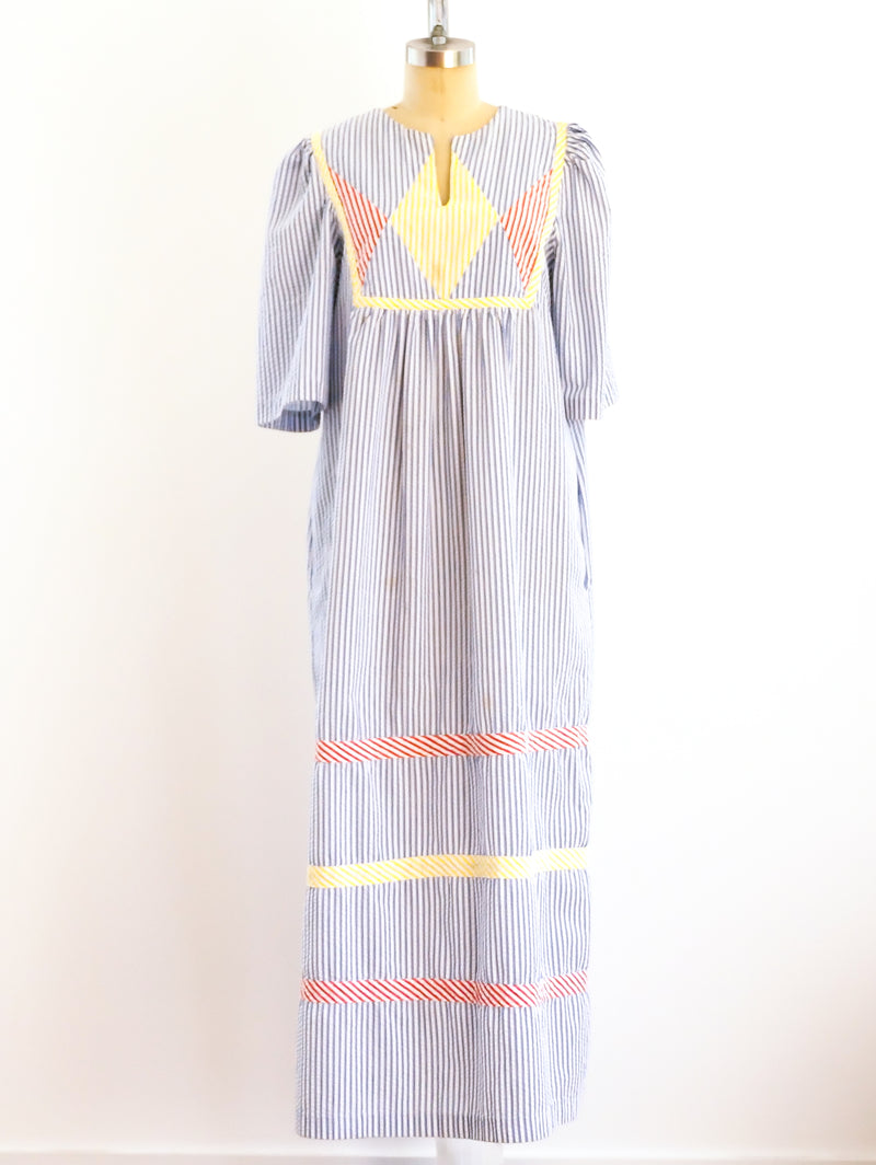 Seersucker Maxi Dress