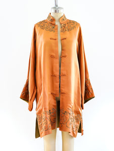 Copper Silk Chinese Robe