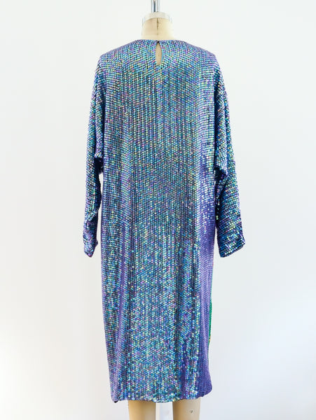 Picasso Inspired Sequin Dress