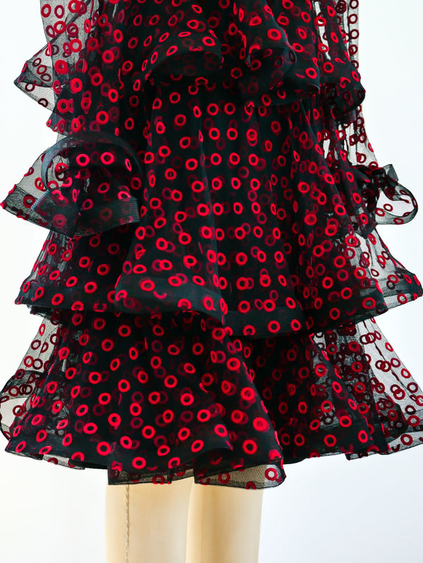 Arnold Scaasi Tiered Dress