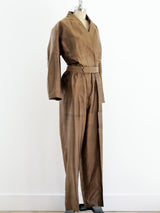 Raw Silk Jumpsuit