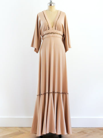Frank Usher Lattice Cutout Maxi Dress